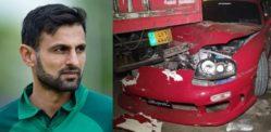Shoaib Malik's Sports Car damaged in Accident