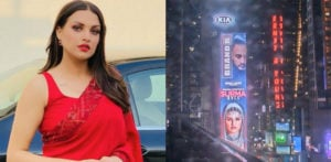 Himanshi Khurana appears on Times Square Billboard f