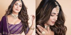 Hina Khan gives off Wedding Vibes with Purple Lehenga