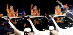 Indian Bride Cheats Death in Wedding Procession Crash