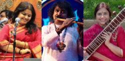 प्रदर्शनी में पंडित रविशंकर को सम्मानित करते भारतीय संगीतकार