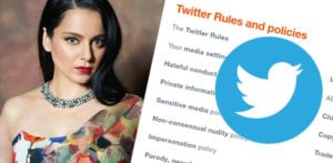 Twitter deletes Kangana's Tweets for Violating Rules f