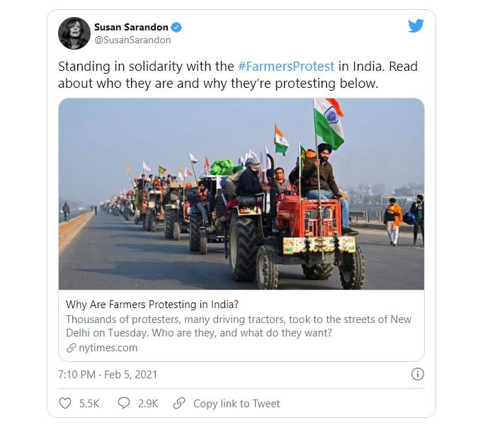 سوسن - ہندوستانی کسانوں کا احتجاج ایک انسان دوست بحران ہے