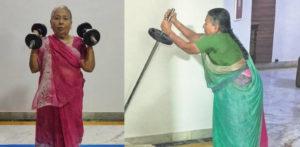 भारतीय दादी का वजन विरल हो जाता है