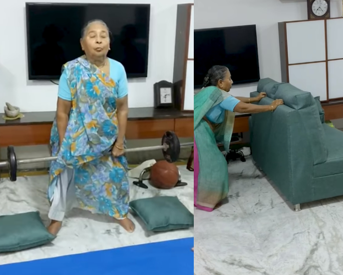 Indian Grandmother Weighlifting goes Viral