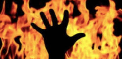 Indian Woman gets Father Drunk and sets him on Fire