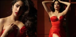 Janhvi Kapoor slays in Fiery Red Strapless Dress