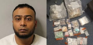 गंभीर कॉलेशन च पळून गेल्यावर मनुष्य £ 200k ड्रग्ससह सापडला