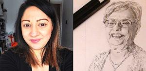 नीना चौहान ने आर्ट, क्रिएटिविटी और कीपिंग पॉजिटिव - f1