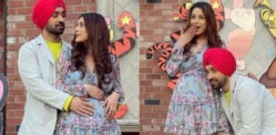 Shehnaaz Gill flaunts Pregnant Look with Diljit Dosanjh