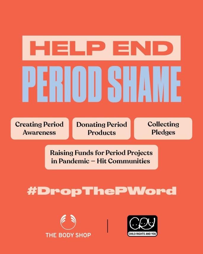 पीरियड्स शर्म को खत्म करने के लिए NGO के साथ काम कर रही बॉडी शॉप इंडिया -