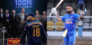 Virat Kohli hits 100 Million Followers on Instagram f