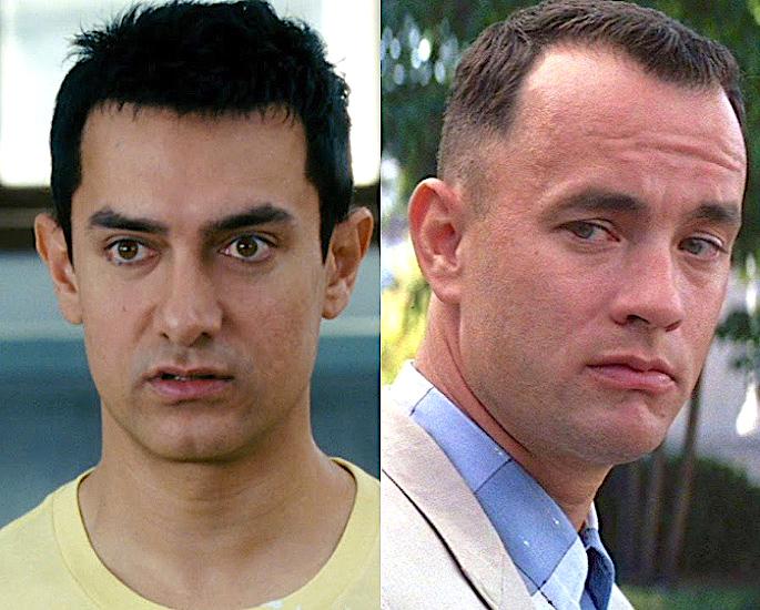 7 Bollywood Stars Influenced by Hollywood Icons - Aamir Khan Tom Hanks