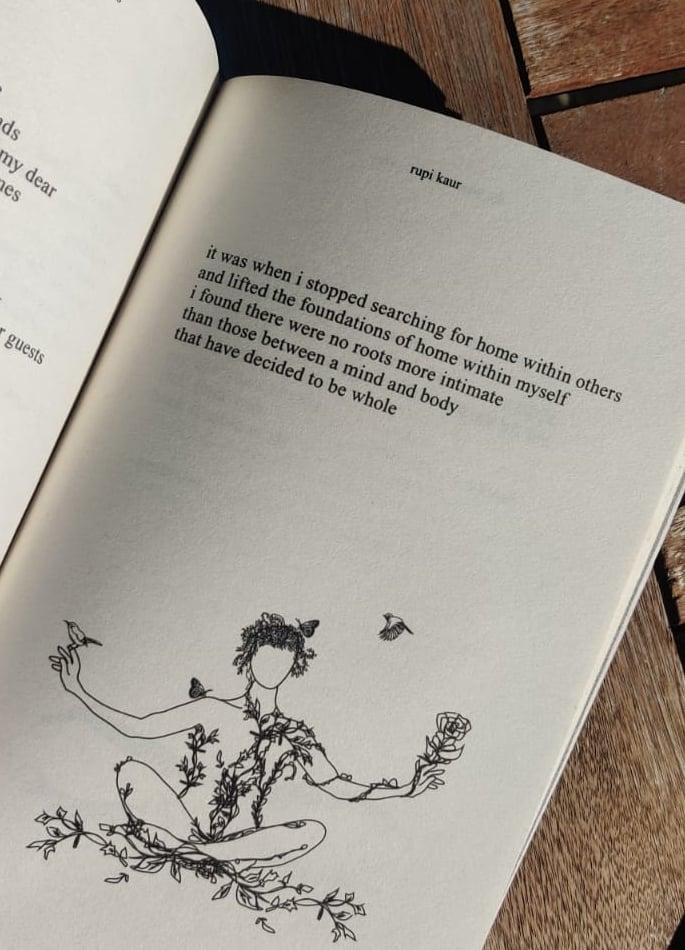 রুপী কৌরের কাব্য সংকলন-সান এবং ফুলের এক অন্বেষণ