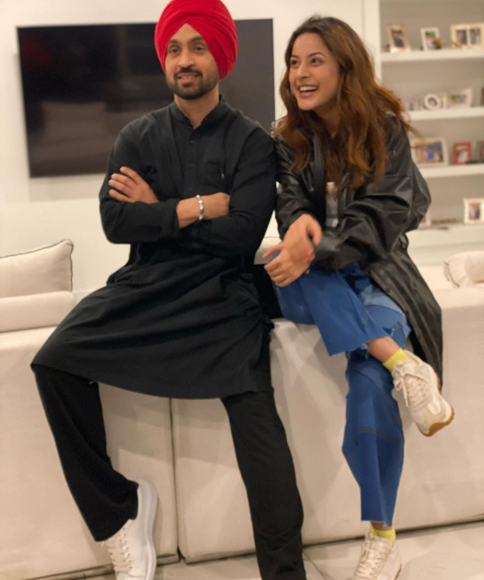 Diljit Dosanjh & Shehnaaz Gill twin in Black Outfits 2