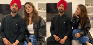 Diljit Dosanjh & Shehnaaz Gill twin in Black Outfits f