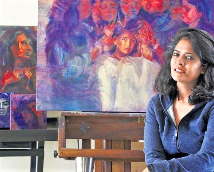 First Indian Woman Artist's Painting going to the Moon