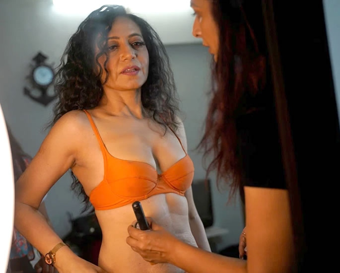 Indian Lingerie Model aged 52 hopes for More Inclusivity- makeup