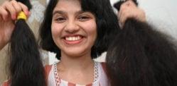 भारत के सबसे लंबे बालों के विश्व रिकॉर्ड धारक ने उसके बाल काटे