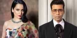 'દોસ્તાના 2' ના નિવેદન બાદ કંગનાએ કરણ જોહરની નિંદા કરી