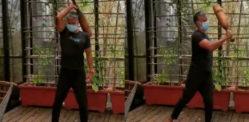 ਮਿਲਿੰਦ ਸੋਮਨ ਮੁੱਦਗਰ ਨਾਲ 'ਲਾਈਟ ਐਕਸਰਸਾਈਜ' ਕਰਦੇ ਹਨ