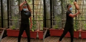 Milind Soman does 'Light Exercises' with Mudgar f