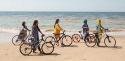 Pakistani Fashion campaign featuring Women on Bicycles