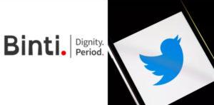 পিরিয়ড চ্যারিটি বিন্তি আন্তর্জাতিক টুইটার দ্বারা নিষিদ্ধ