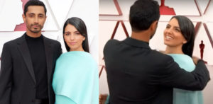 Riz Ahmed fixing Wife's Hair on Red Carpet goes Viral f