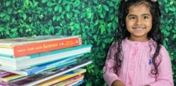 US Indian Girl aged 5 breaks Reading World Record