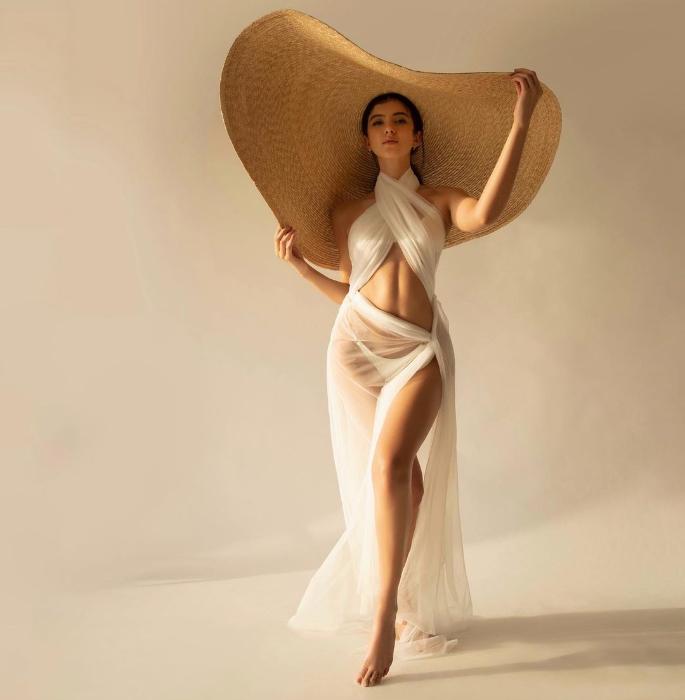 Shanaya Kapoor sizzles in Bikini & Sheer Overlay