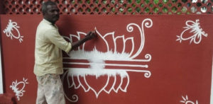 Tamil Artist transforms Couple's Home with Kolams f