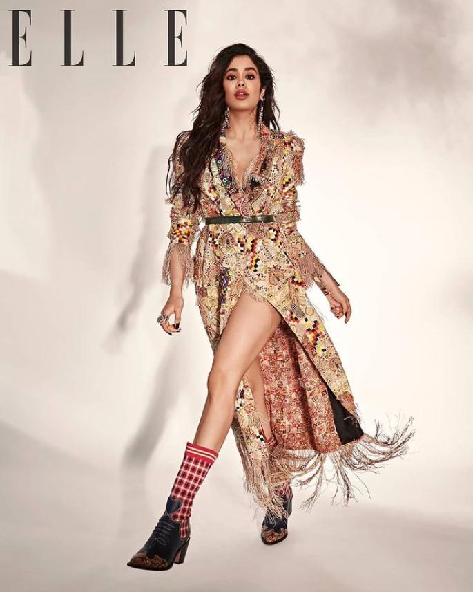 Janhvi Kapoor anaangaza huko Elle India Cover Shoot - photoshoot