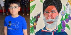 نو سالہ لڑکا مائشٹھیت آرٹ مقابلے کے فائنل میں پہنچ گیا