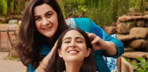 Sara Ali Khan & Mother Endorse Haircare brand Together f