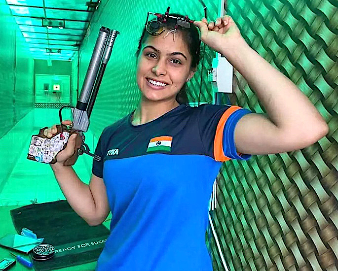 टोकियो ऑलिम्पिक 5 मध्ये भारतासाठी 2021 रोमांचक तारे - मनु भाकर