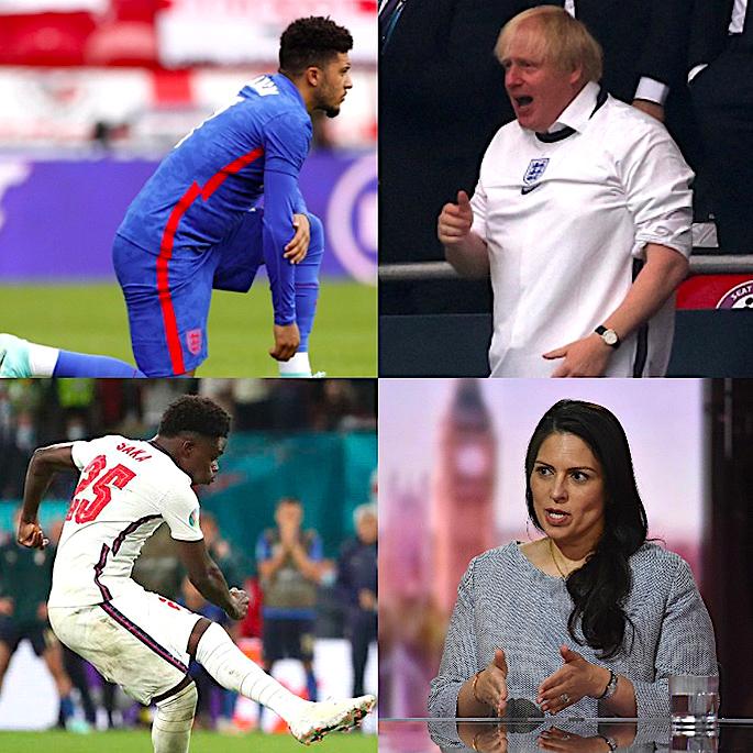 इंग्लंड फुटबॉल वर्णद्वेष: मूळ, देसी खेळाडू आणि भविष्य - जेसन सांचो बोरिस जॉनसन प्रीती पटेल आणि बुकायो सका