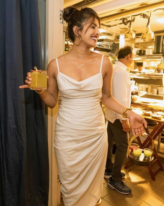 Priyanka Chopra dazzles in White Dress for Restaurant Visit - actress