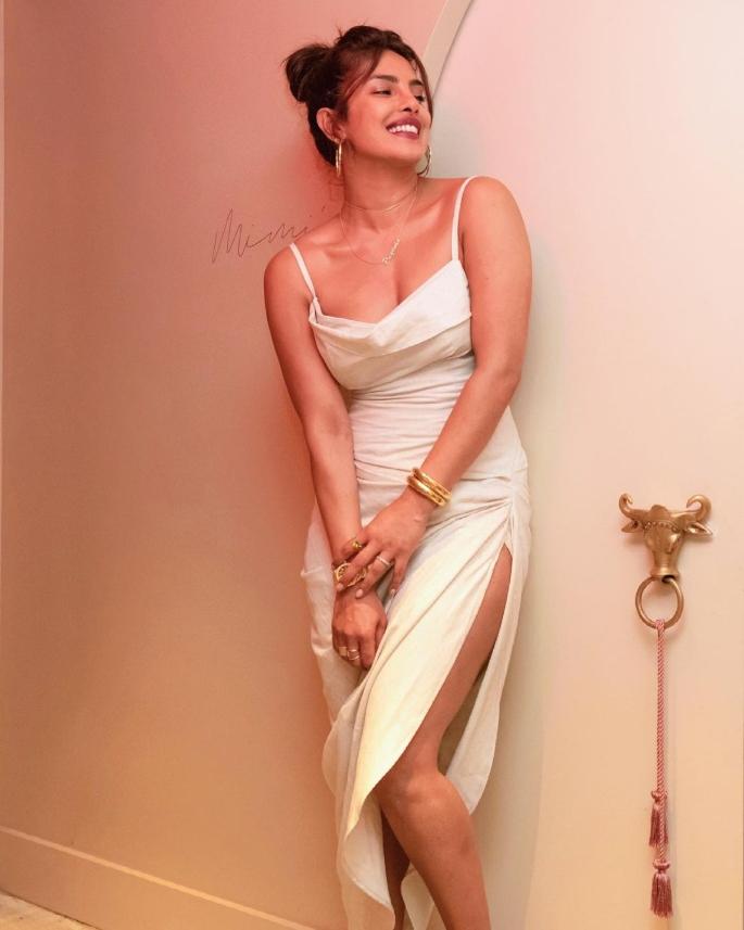 Priyanka Chopra dazzles in White Dress for Restaurant Visit - fashion