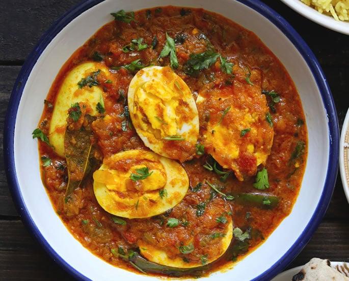 Mapishi 5 ya mayai ya India ya kutengeneza - curry