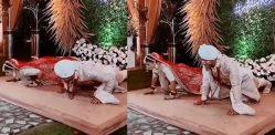 भारतीय दूल्हा और दुल्हन शादी में प्रेस-अप करते हैं