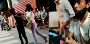 Lucknow Girl beats Cab Driver & Man on Road f