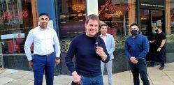 Tom Cruise dines at Asha's in Birmingham