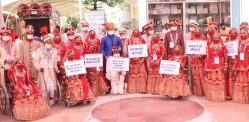21 Disabled Indian Couples marry in Mass Wedding