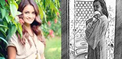 Dia Mirza shares Black & White Sketch of Baby Avyaan