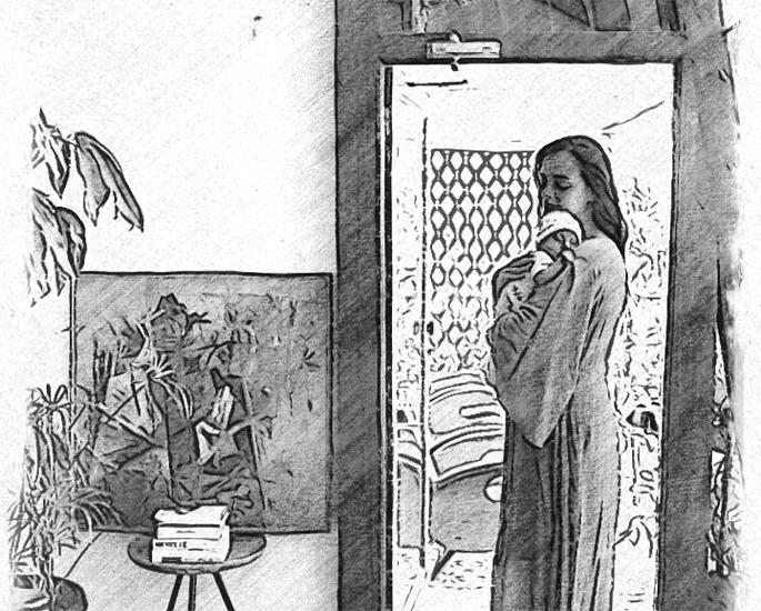 ਦੀਆ ਮਿਰਜ਼ਾ ਨੇ ਬੇਬੀ ਅਵਯਾਨ - ਆਈਏ 1 ਦਾ ਬਲੈਕ ਐਂਡ ਵ੍ਹਾਈਟ ਸਕੈਚ ਸਾਂਝਾ ਕੀਤਾ