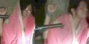 Indian Woman tied to Tree at Gunpoint & Beaten f