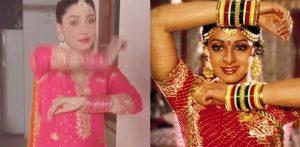 Pakistani actress Ayeza Khan recreates hit Sridevi Song f