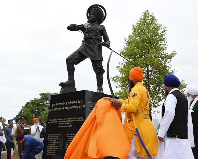 Inaugurato il Monumento Saragarhi in onore dei coraggiosi soldati Sikh - completo