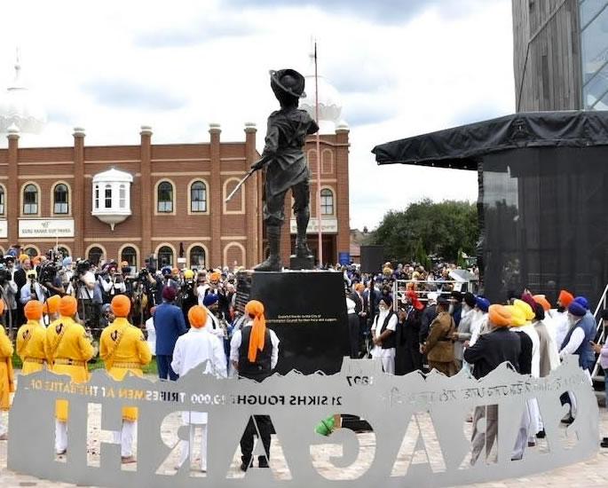 Inaugurato il Monumento Saragarhi in onore dei coraggiosi soldati Sikh